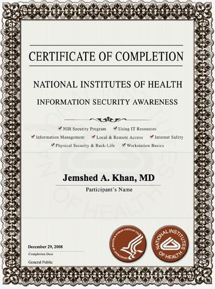 studies human certification khan nih